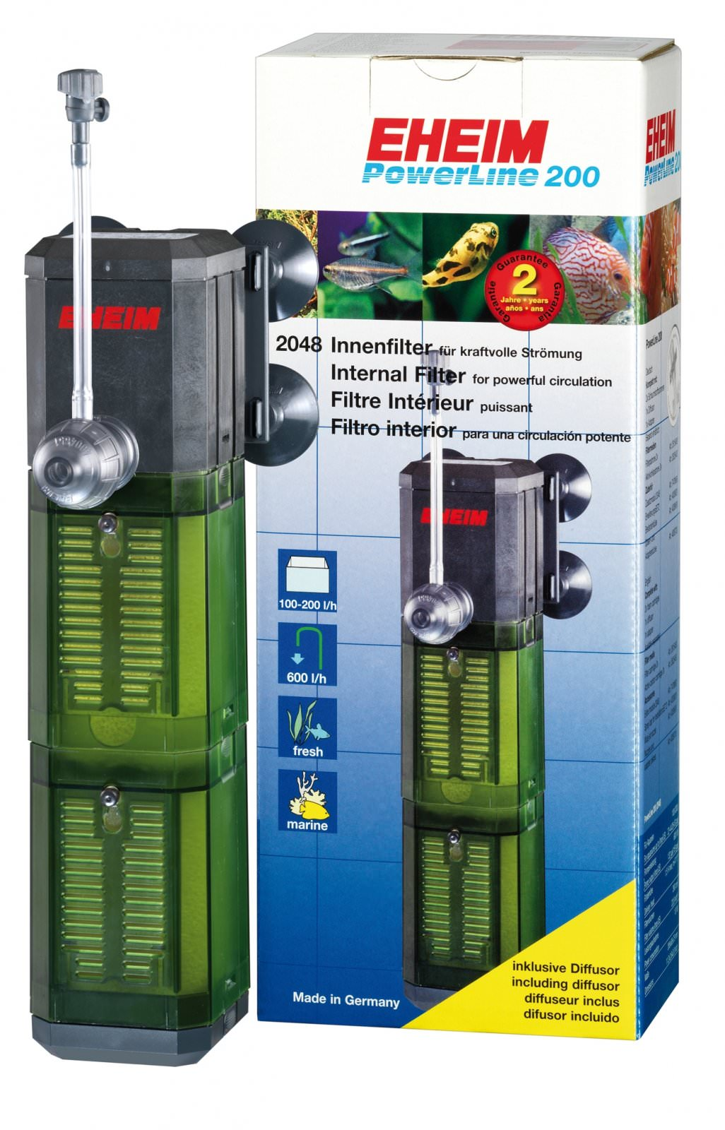 Eheim 2048 powerline filtre modulaire haute performance for Aquarium interieur