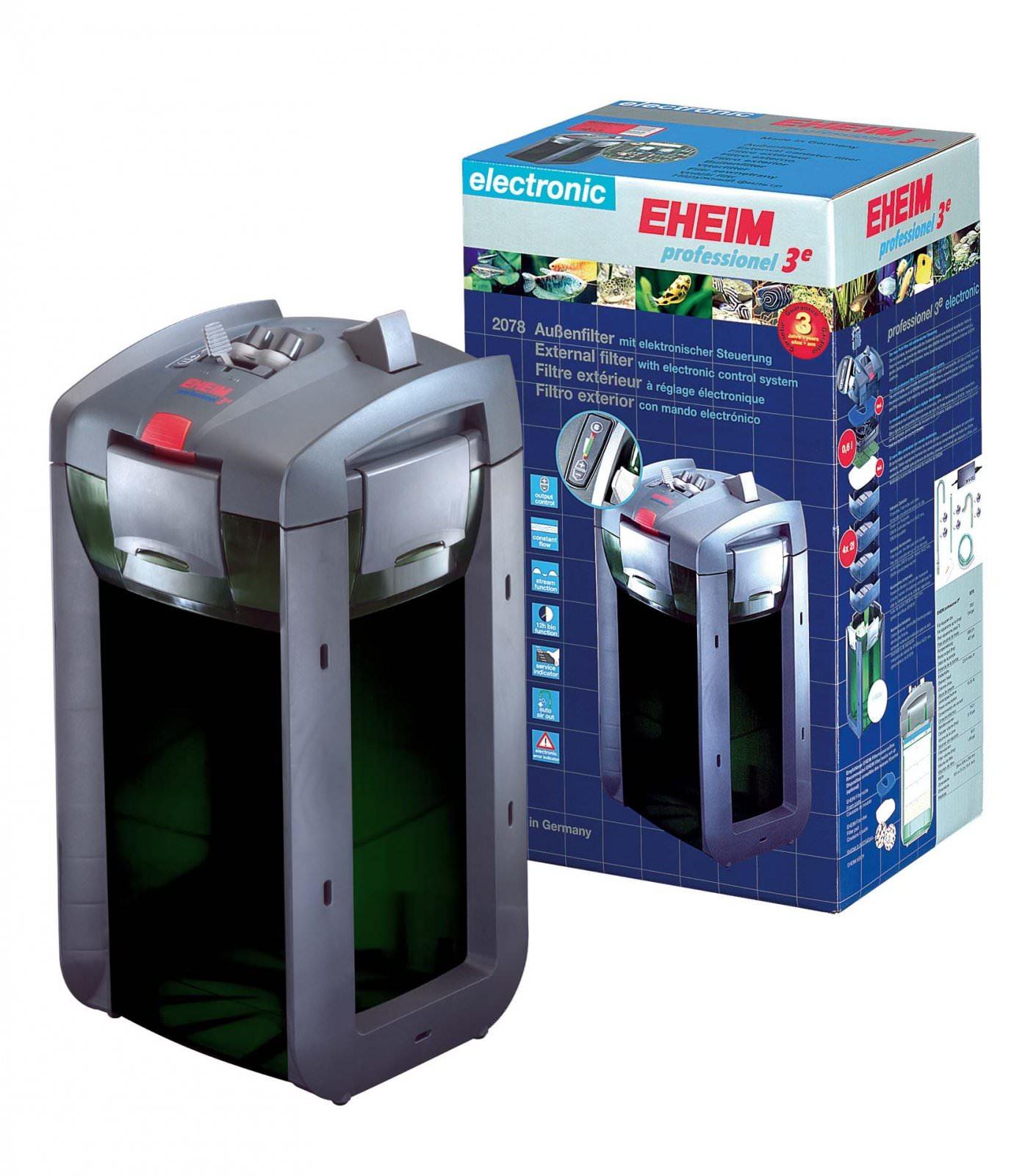 EHEIM 2078 Professionel 3e 700 filtre externe électronique pour aquarium jusqu\'à 700L sans masses filtrantes