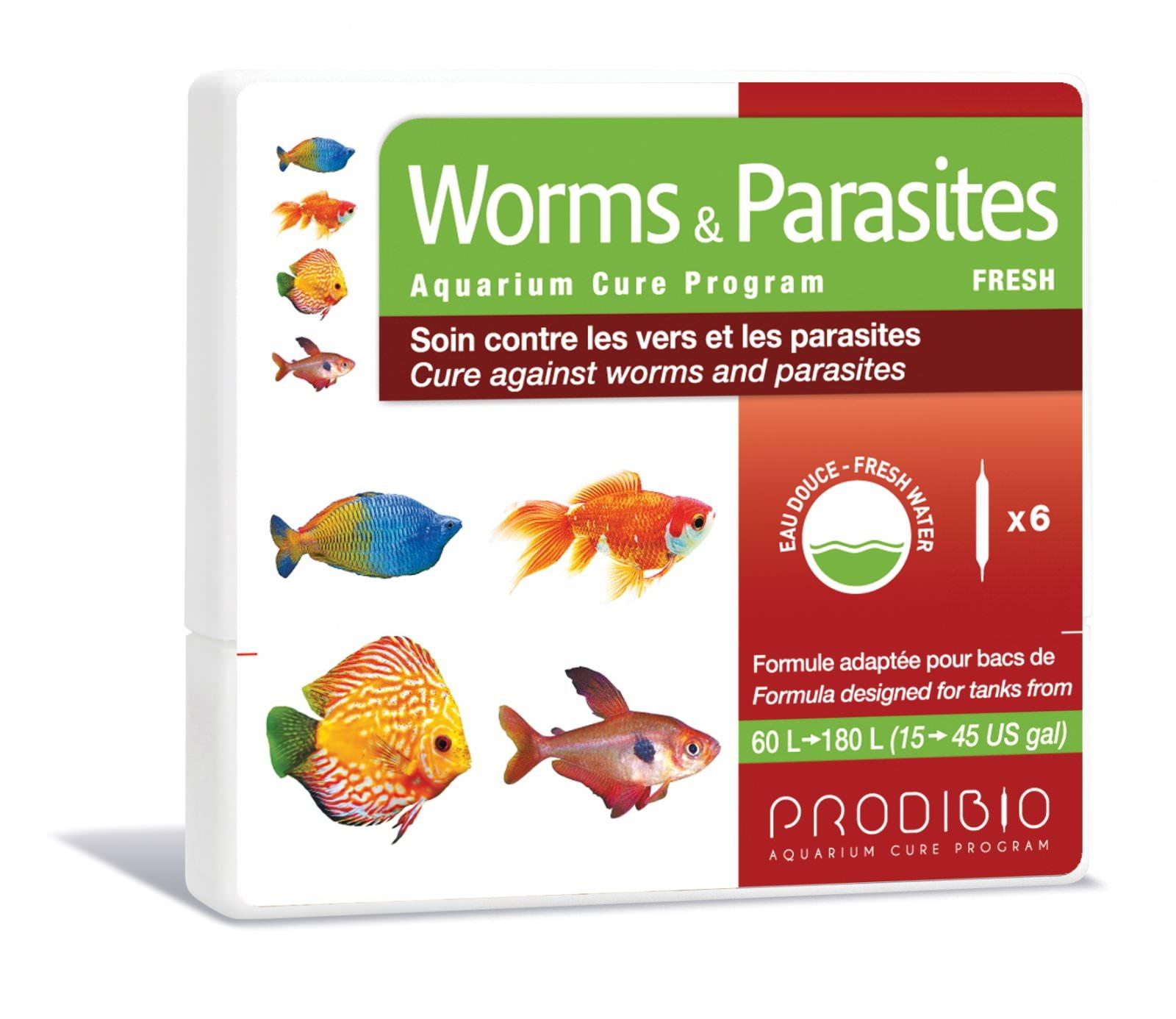 PRODIBIO Worms & Parasites Fresh 6 ampoules soins contre les vers et les parasites infestant des poissons d'\'eau douce