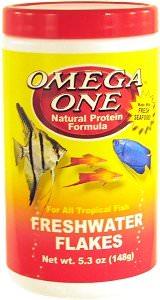 OMEGA ONE Freshwater Flake 148 gr. nourriture en flocons riches en Omega 6 pour tous poissons d\'eau douce