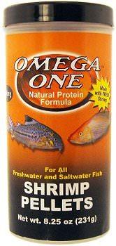 OMEGA ONE Shrimp Pellets 126 gr. nourriture en granulées à base de crevette pour poissons d\'eau douce et d\'eau de mer