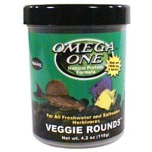 OMEGA ONE Veggie Rounds 117 gr. nourriture en tablette à base de Varech pour poissons d\'eau douce et d\'eau de mer herbivores