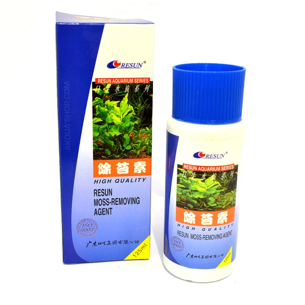 RESUN Moss-Removing Agent 125ml anti-algues puissant pour aquarium. Traite jusqu\'à 625L
