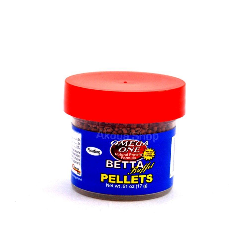 OMEGA ONE Betta Buffet Pellets 17 gr. nourriture haute qualité en granulés à base de fruits de mer frais pour Betta