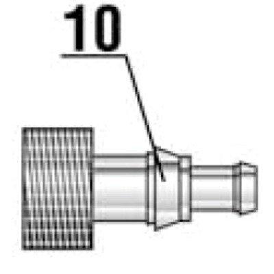 JBL Lot de 2 raccords de tuyau pour stérilisateur JBL AquaCristal 5W Réf. JBL 60329