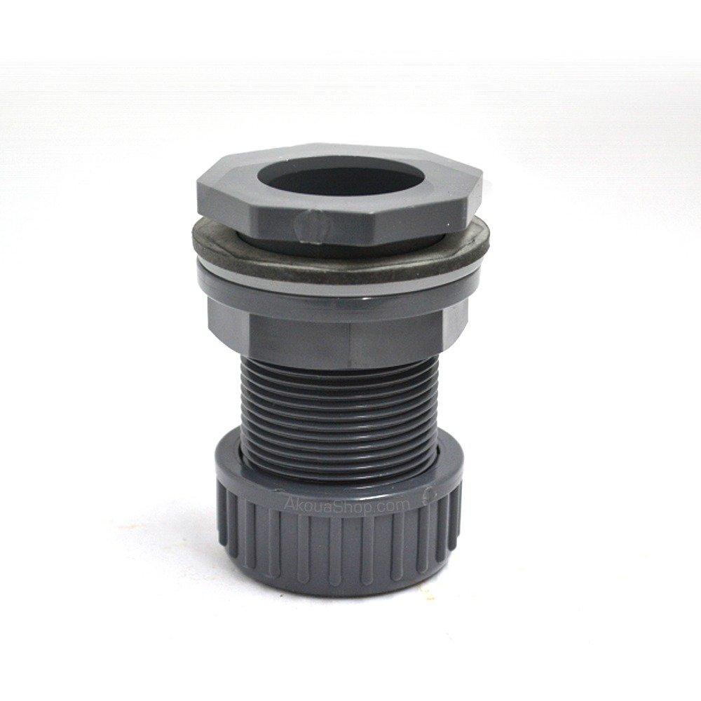 Passe paroi PVC diamètre 32 mm pour trou diamètre 43 mm. Marque VDL haute qualité.