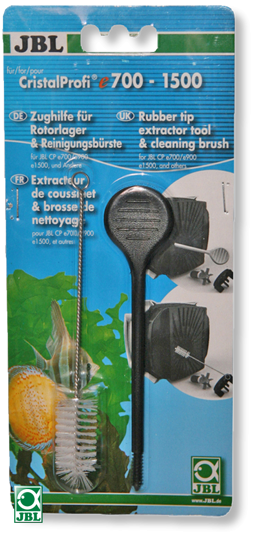 JBL Extracteur de coussinet avec brosse de nettoyage pour l\'entretien des filtres Cristal Profi e700, e900, e1500 et e701, ...