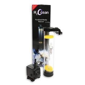 D-D Reacteur haute efficacité + pompe 1500L/h pour l\'utilisation fluidisé de matériaux filtrants comme le charbon, biopellets,...