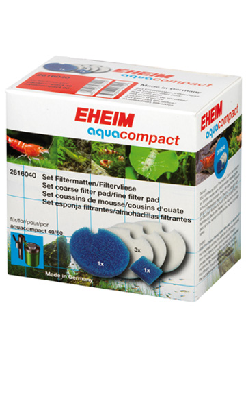 EHEIM Set 2 mousses bleues + 3 coussins d\'ouate pour filtre Eheim AquaCompact 40 et 60