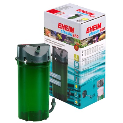 EHEIM Classic 2213 filtre externe pour aquarium entre 80 et 250L avec doubles robinets, mousses et masses de filtration Biologique