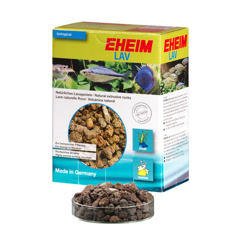 EHEIM Lav 1L matériau à base de roche volcanique poreuse idéale pour la colonisation des bactéries en aquarium