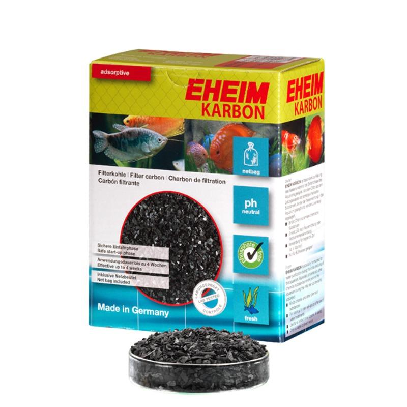 EHEIM Karbon 1L charbon actif avec filet  pour l\'élimination des substances nocives dissoutes et les résidus médicamenteux