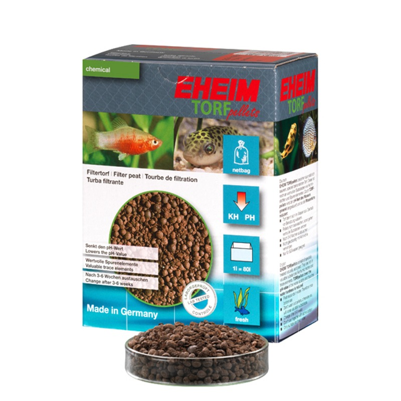 EHEIM Torf-Pellets 1L tourbe naturelle pour la réduction du pH et l\'obtention d\'une eau ambrée
