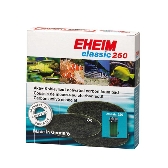 EHEIM 3 coussins de mousse filtrante au charbon actif pour filtre Classic 2213