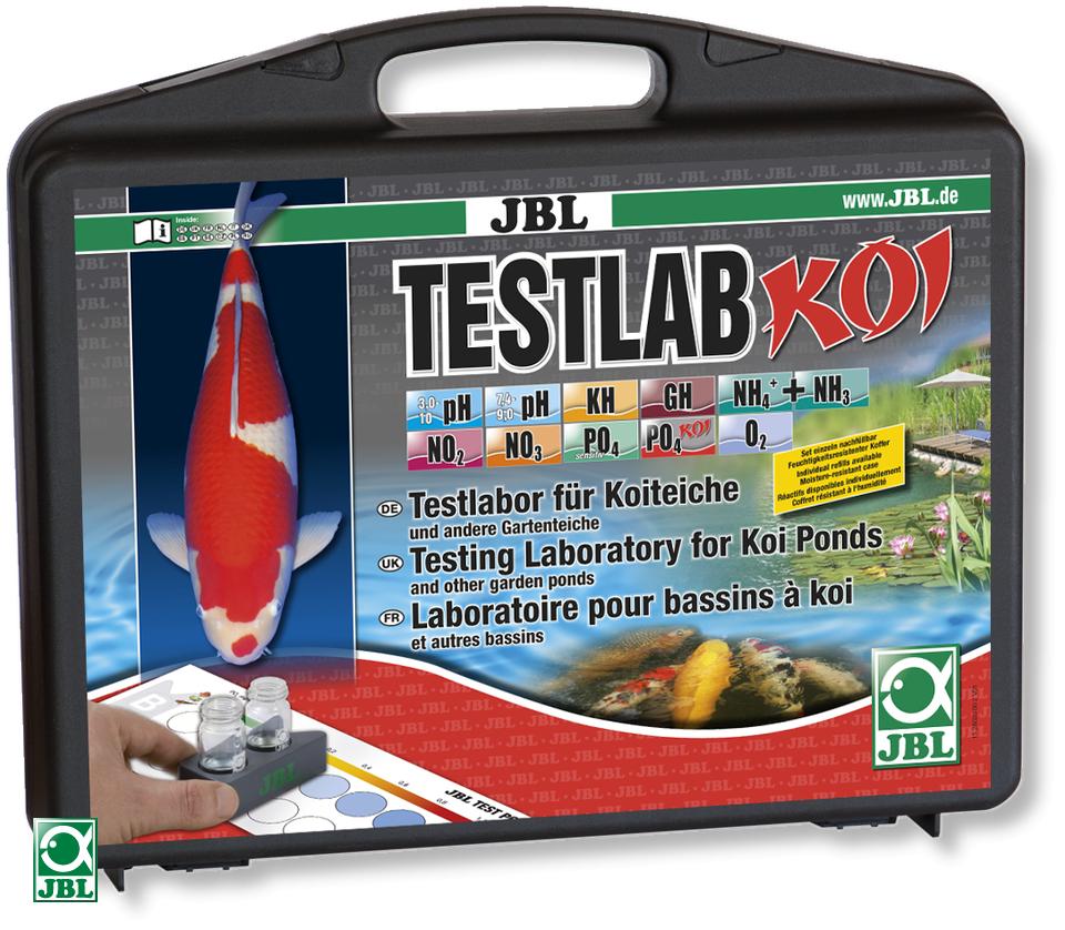 JBL TestLab Koï malette de 11 tests différents pour une analyse approfondie de l\'eau de votre bassin