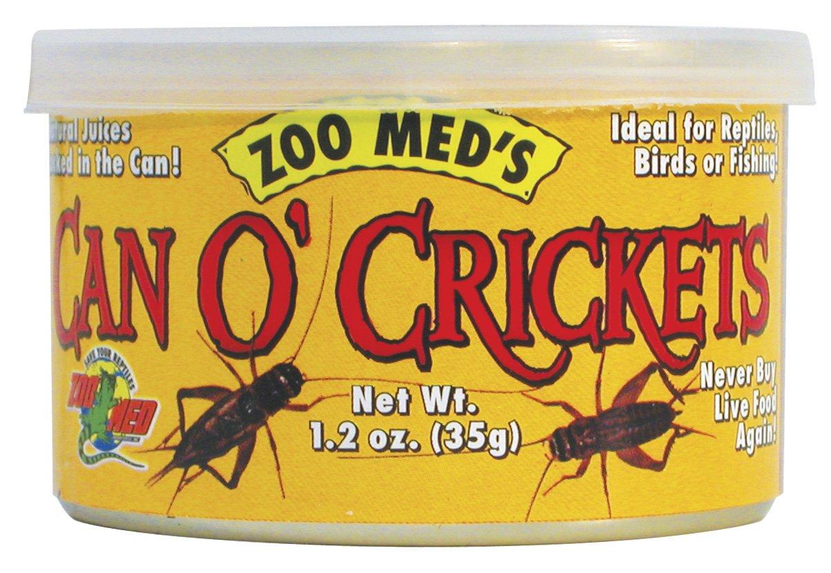 ZOOMED Can O\' Cricket 35 grs grillons de taille adulte pour lézards, tortues, poissons, oiseaux et petits animaux.