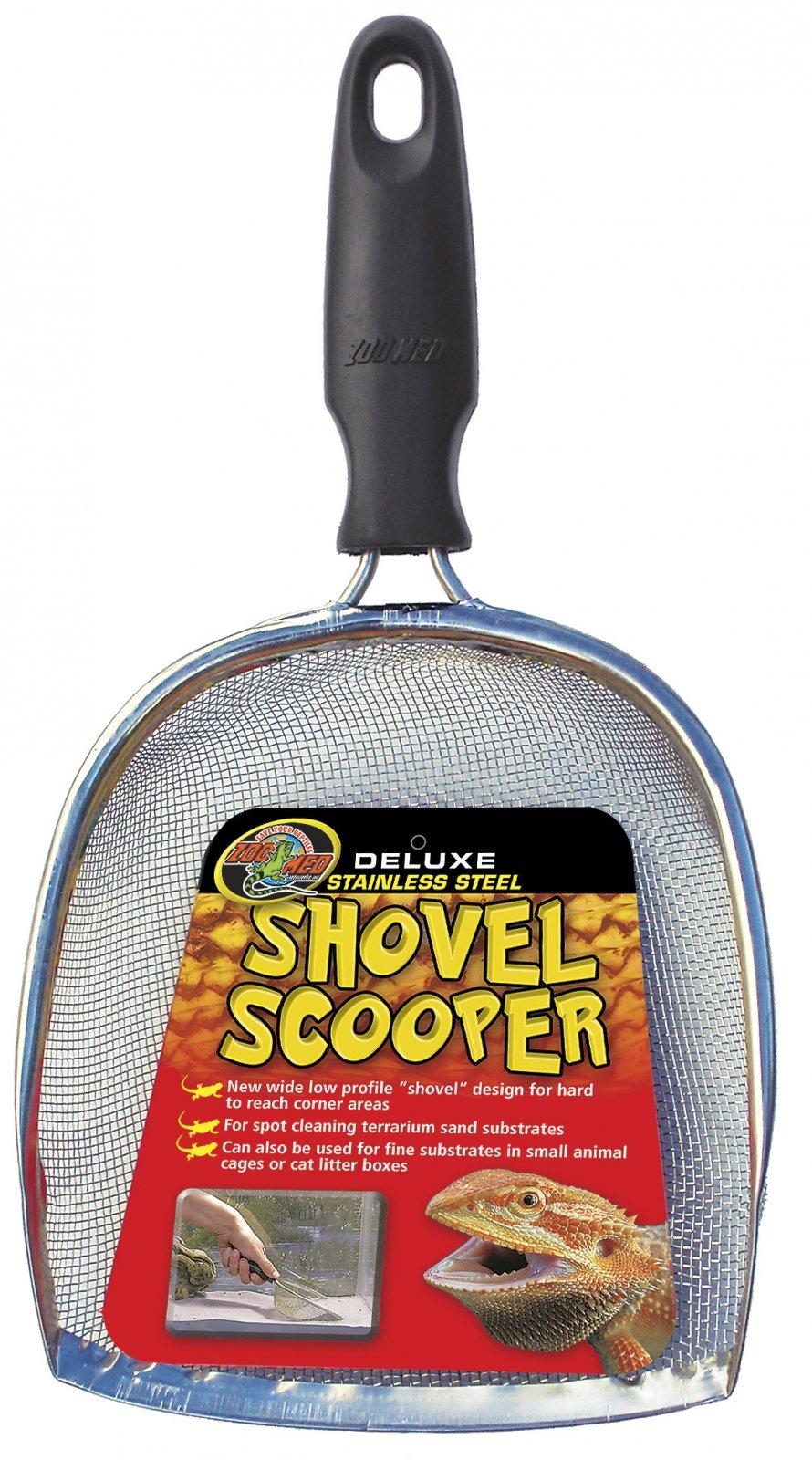 ZOOMED Shovel Scooper Deluxe pelle-racloir pour l\'entretien du sable des terrariums