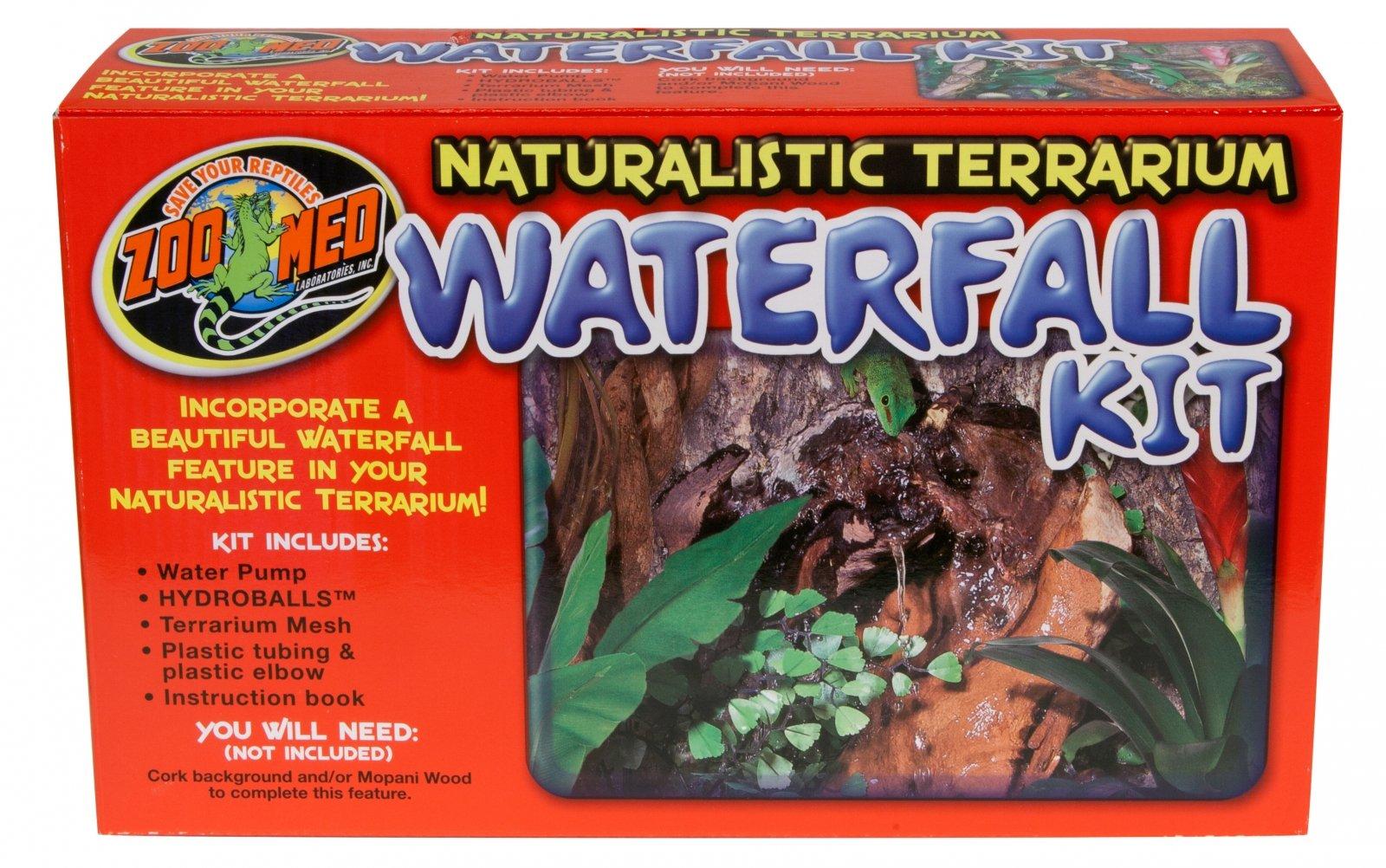 ZOOMED WaterFall Kit ajoutez une magnifique chute d\'eau à votre terrarium !
