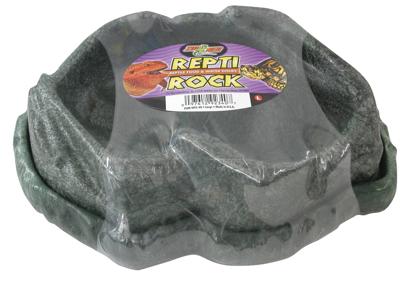 ZOOMED Combo Repti Rock Food / Water Dish Large Kit abreuvoir et mangeoire pour reptile