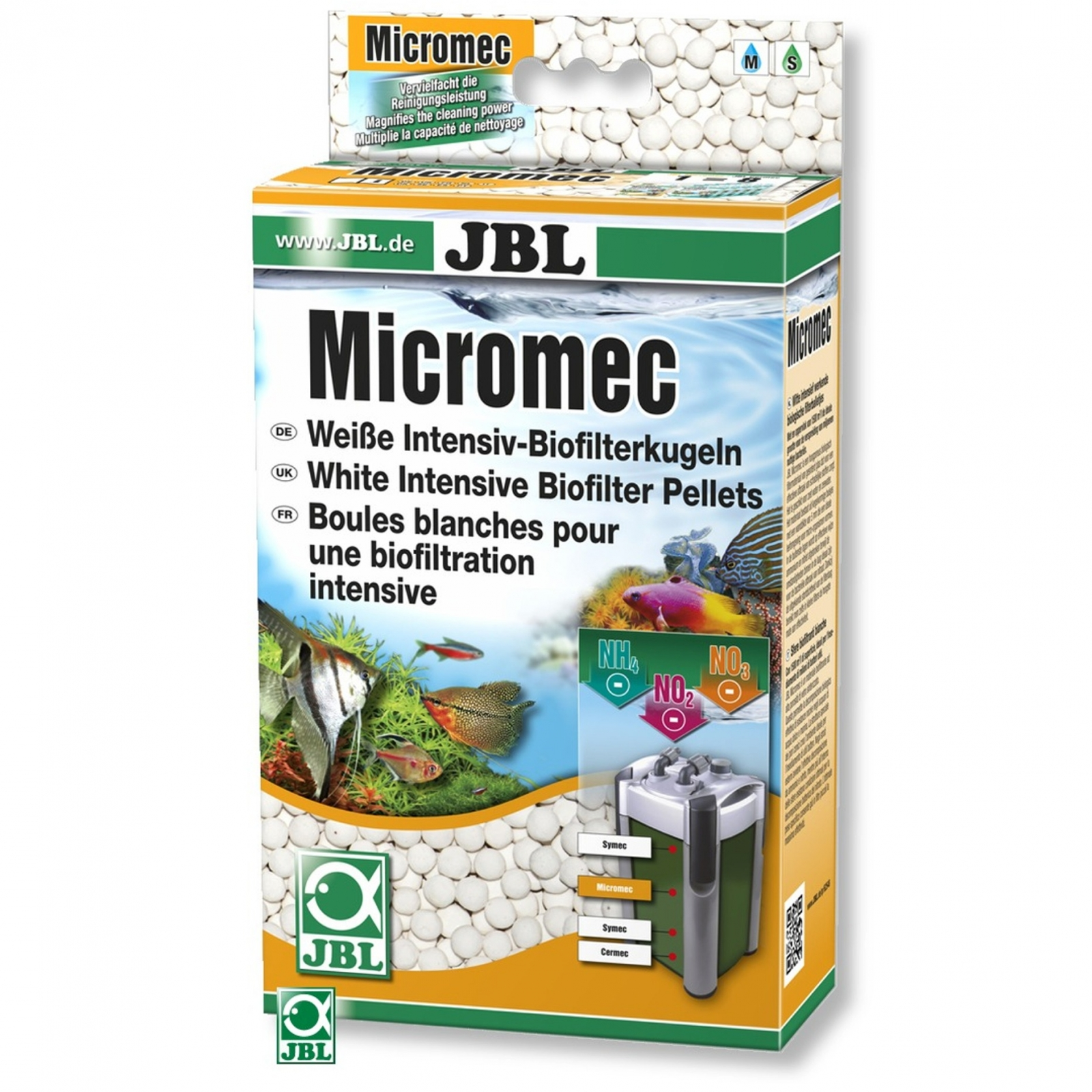 JBL MicroMec 1 L billes blanches de biofiltration intensive