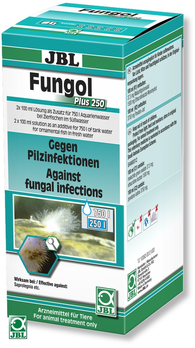JBL Fungol Plus 250 médicament contre les mycoses externes dues à des champignons. Traite jusqu\'à 750 L