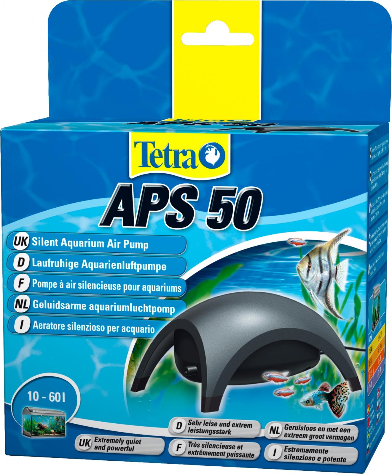 TETRA APS 50 pompe à air 50L/h puissante et silencieuse pour aquarium de 10 à 60L