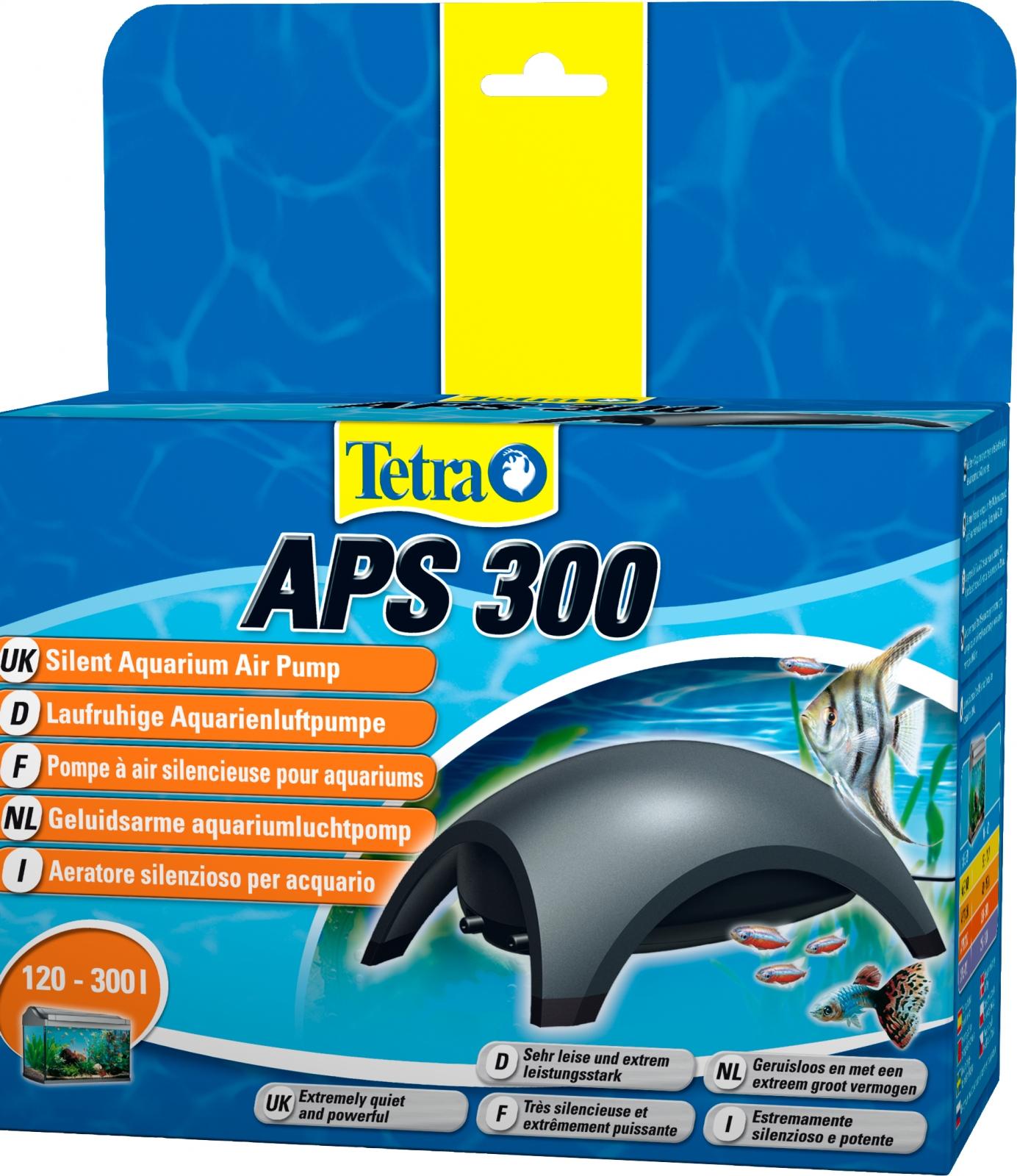 TETRA APS 300 pompe à air 2 x 150L/h puissante et silencieuse pour aquarium de 120 à 300L