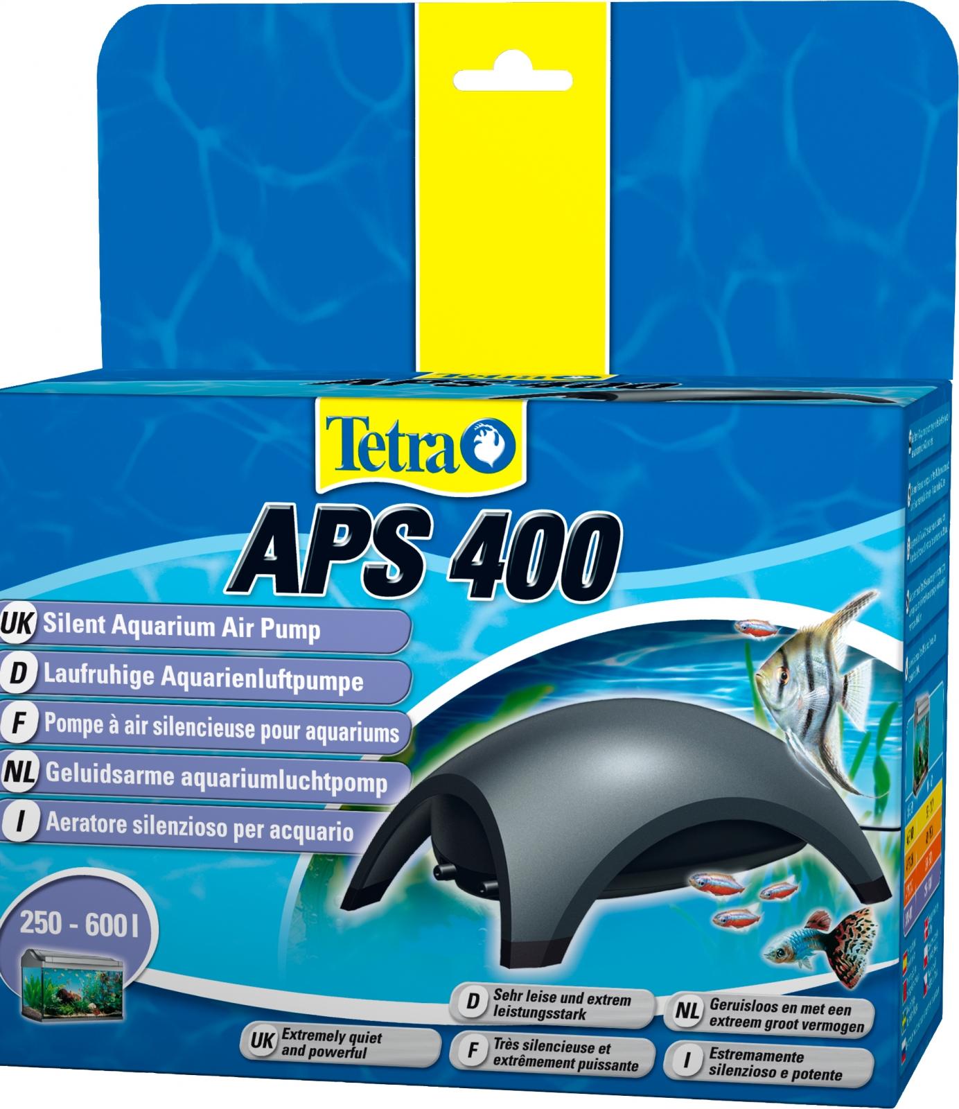 TETRA APS 400 pompe à air 2 x 200L/h puissante et silencieuse pour aquarium de 250 à 600L