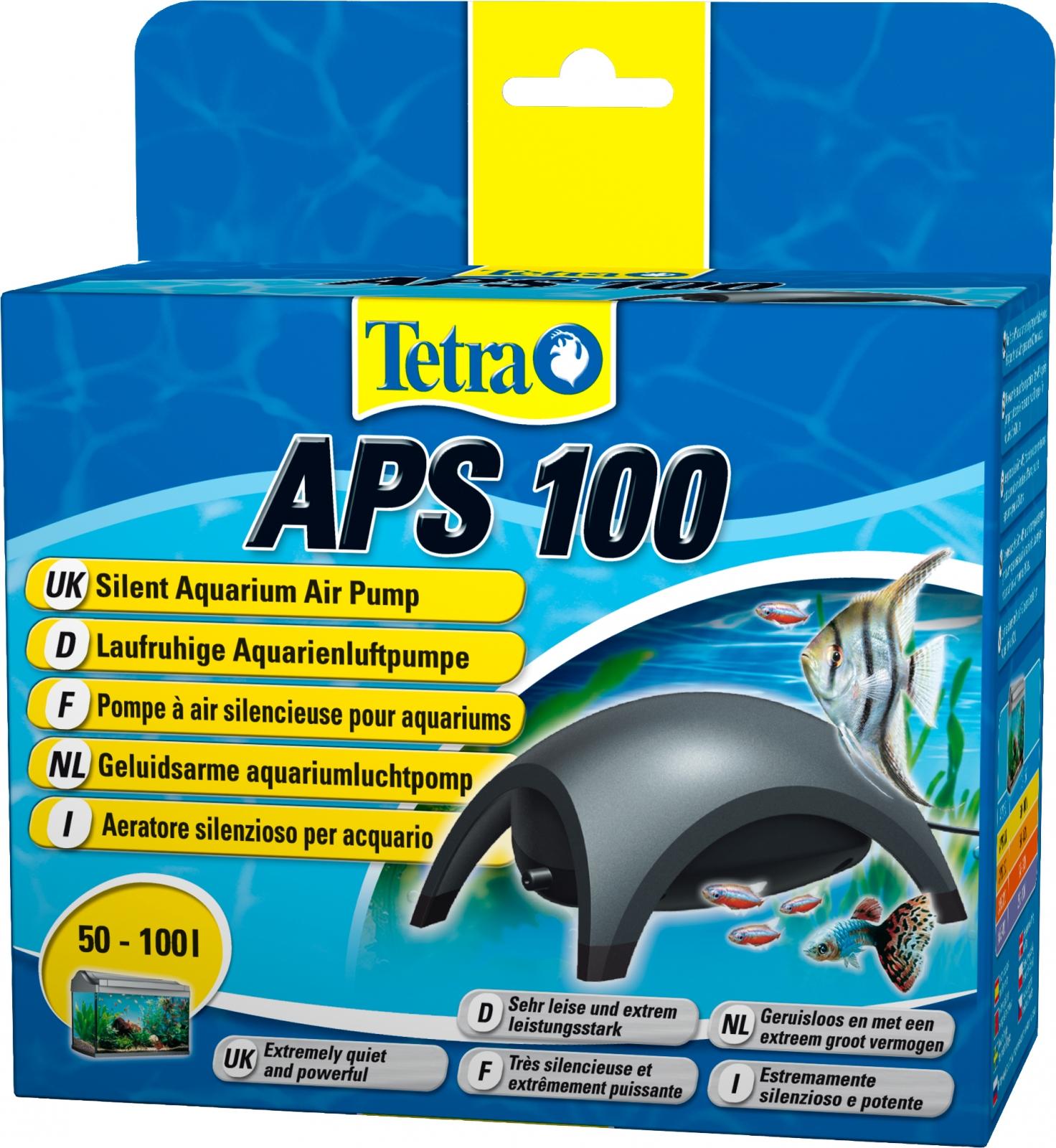 TETRA APS 100 pompe à air 100L/h puissante et silencieuse pour aquarium de 50 à 100L