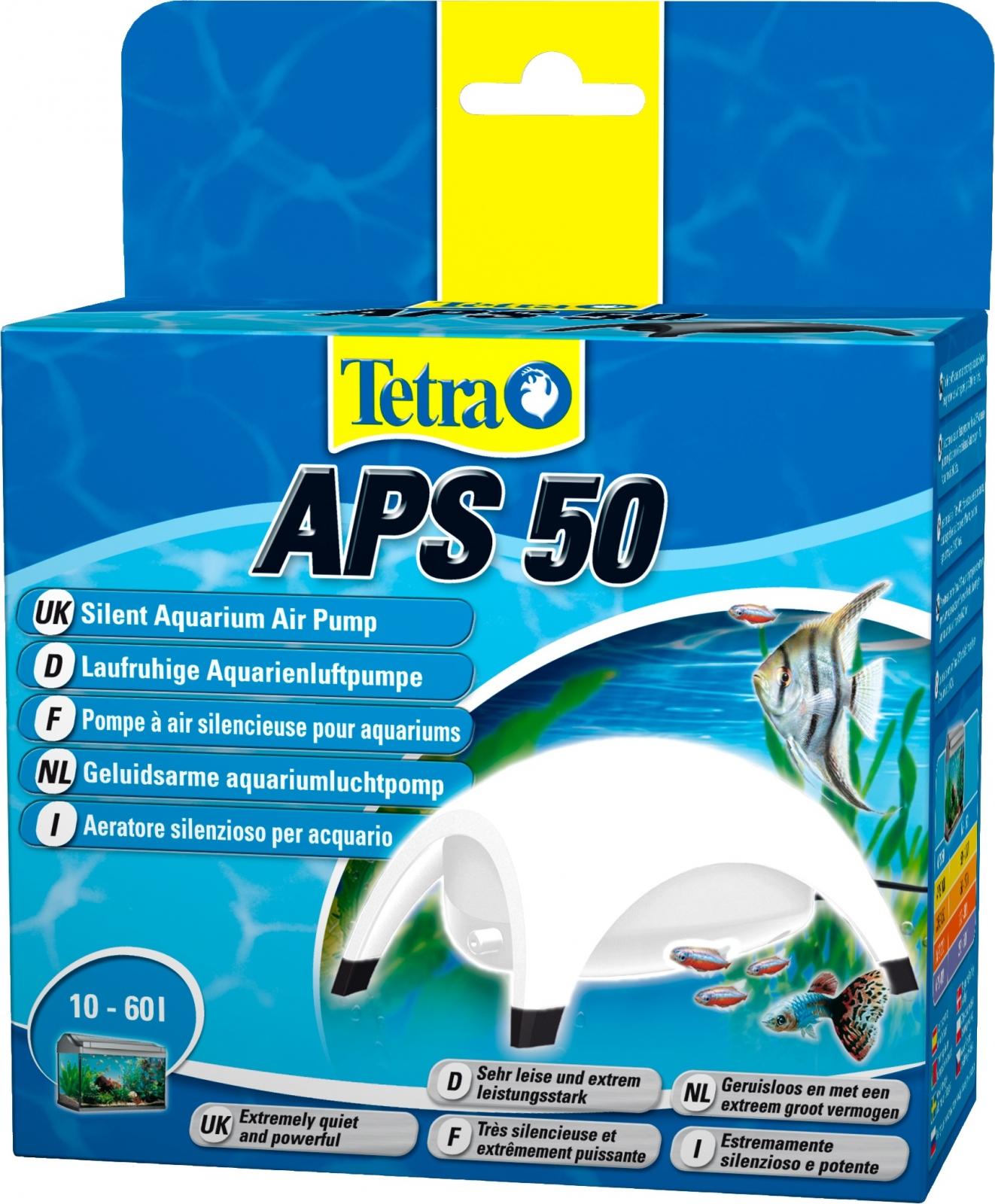 TETRA APS 50 Blanche pompe à air 50L/h puissante et silencieuse pour aquarium de 10 à 60L