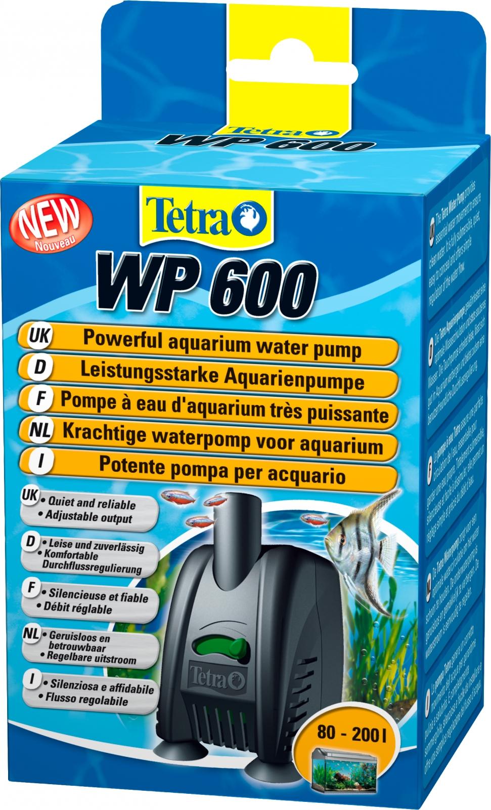 TETRA WP 600 pompe à eau 600 L/h avec débit d\'eau réglable pour aquarium entre 80 et 200L