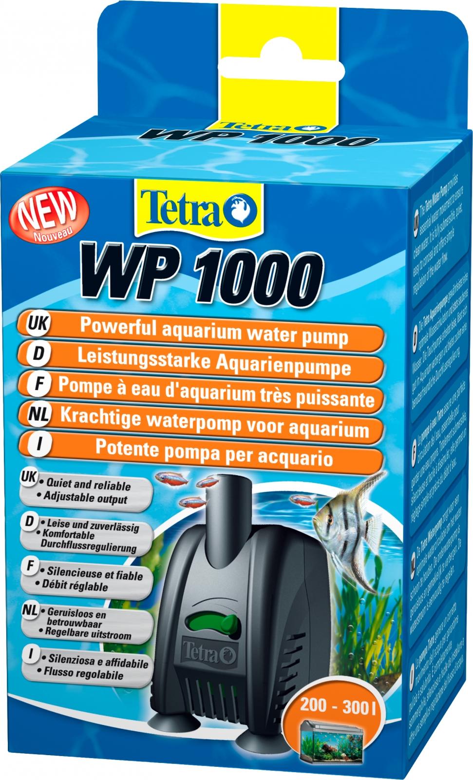TETRA WP 1000 pompe à eau 1000 L/h avec débit d\'eau réglable pour aquarium entre 200 et 300L