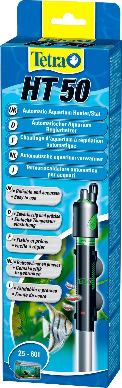 TETRA HT50 chauffage 50W pour aquarium de 25 à 60 L avec régulateur électronique intégré