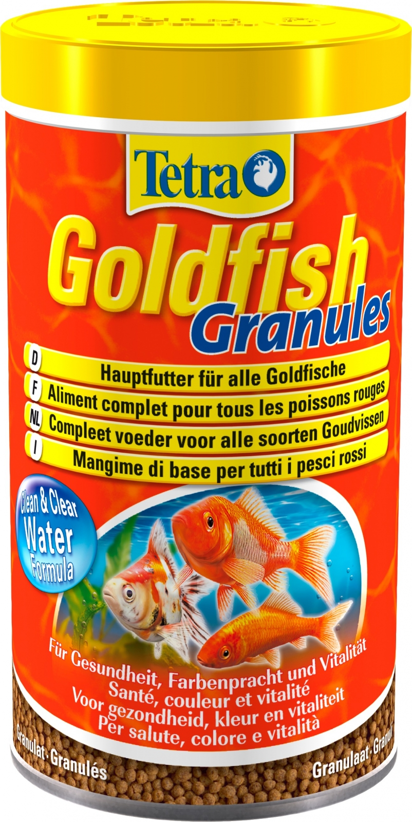 Tetra goldfish granules 500 ml aliment complet en granul s for Nourriture poisson rouge