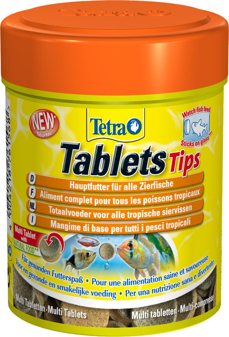 TETRA Tablets Tips 150 ml aliment complet et équilibré sous forme de tablettes pour tous les poissons tropicaux