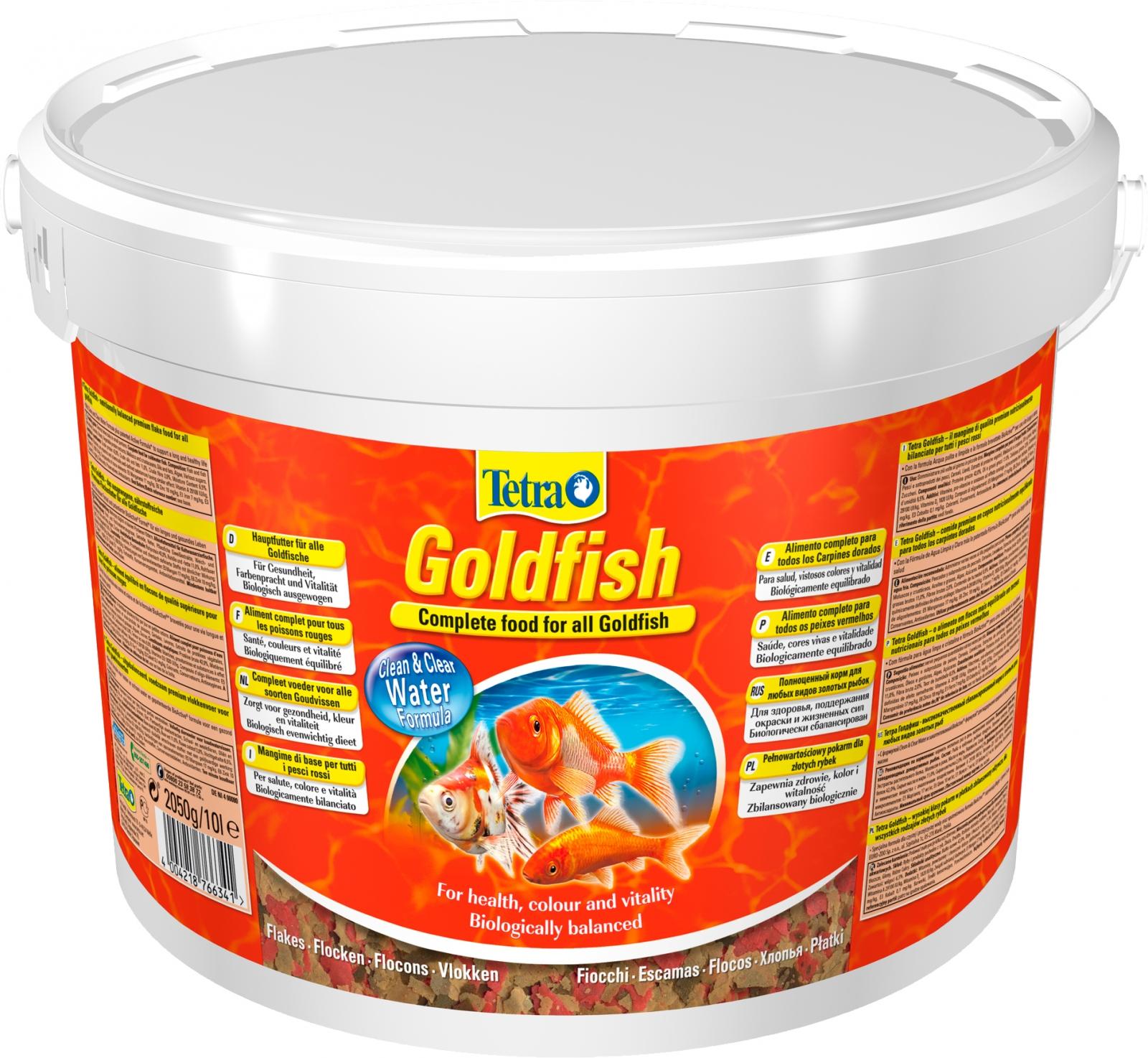 TETRA GoldFish 10L  aliment complet en flocons de grande qualité pour tous les poissons rouges et d\'eau froide