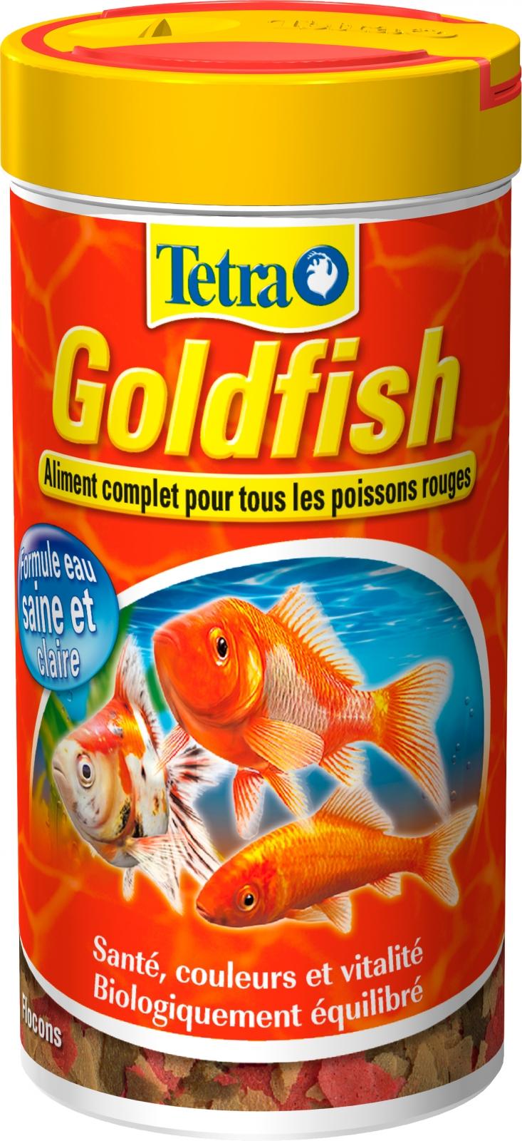 TETRA GoldFish 250 ml  aliment complet en flocons de grande qualité pour tous les poissons rouges et d\'eau froide