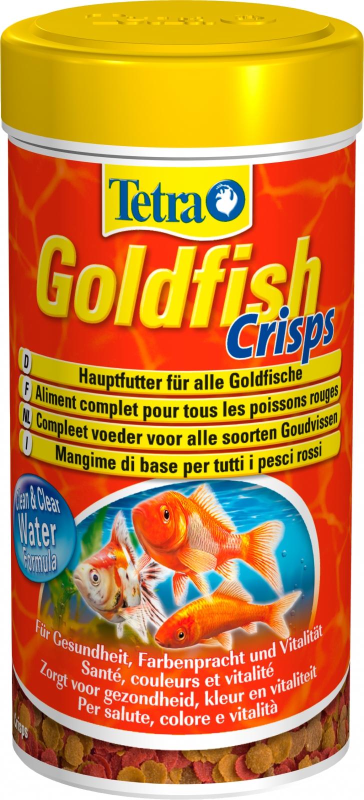 TETRA GoldFish Crisps 250 ml aliment complet en chips de grande qualité pour tous les poissons rouges et d\'eau froide