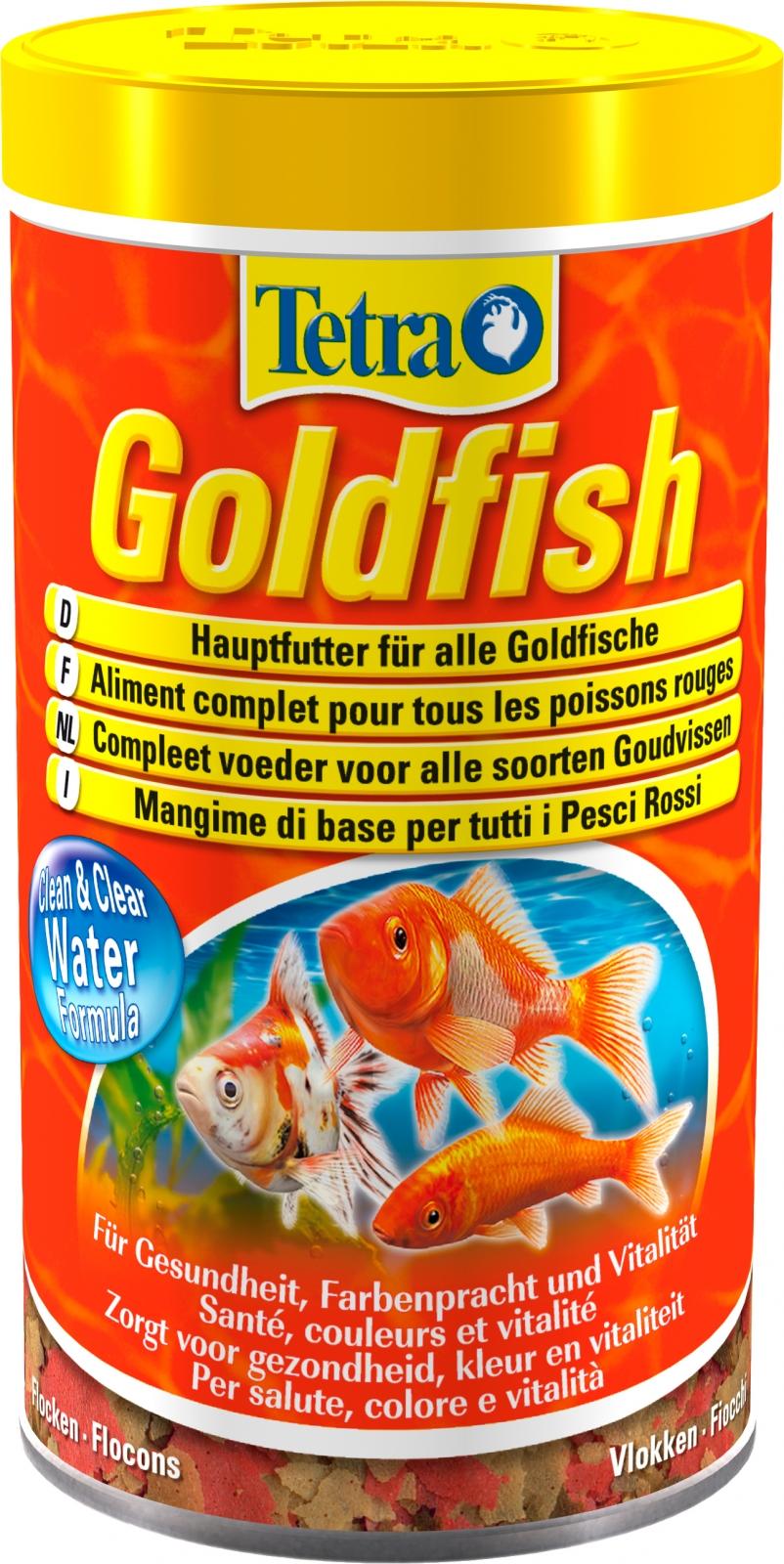 TETRA GoldFish 500 ml aliment complet en flocons de grande qualité pour tous les poissons rouges et d\'eau froide