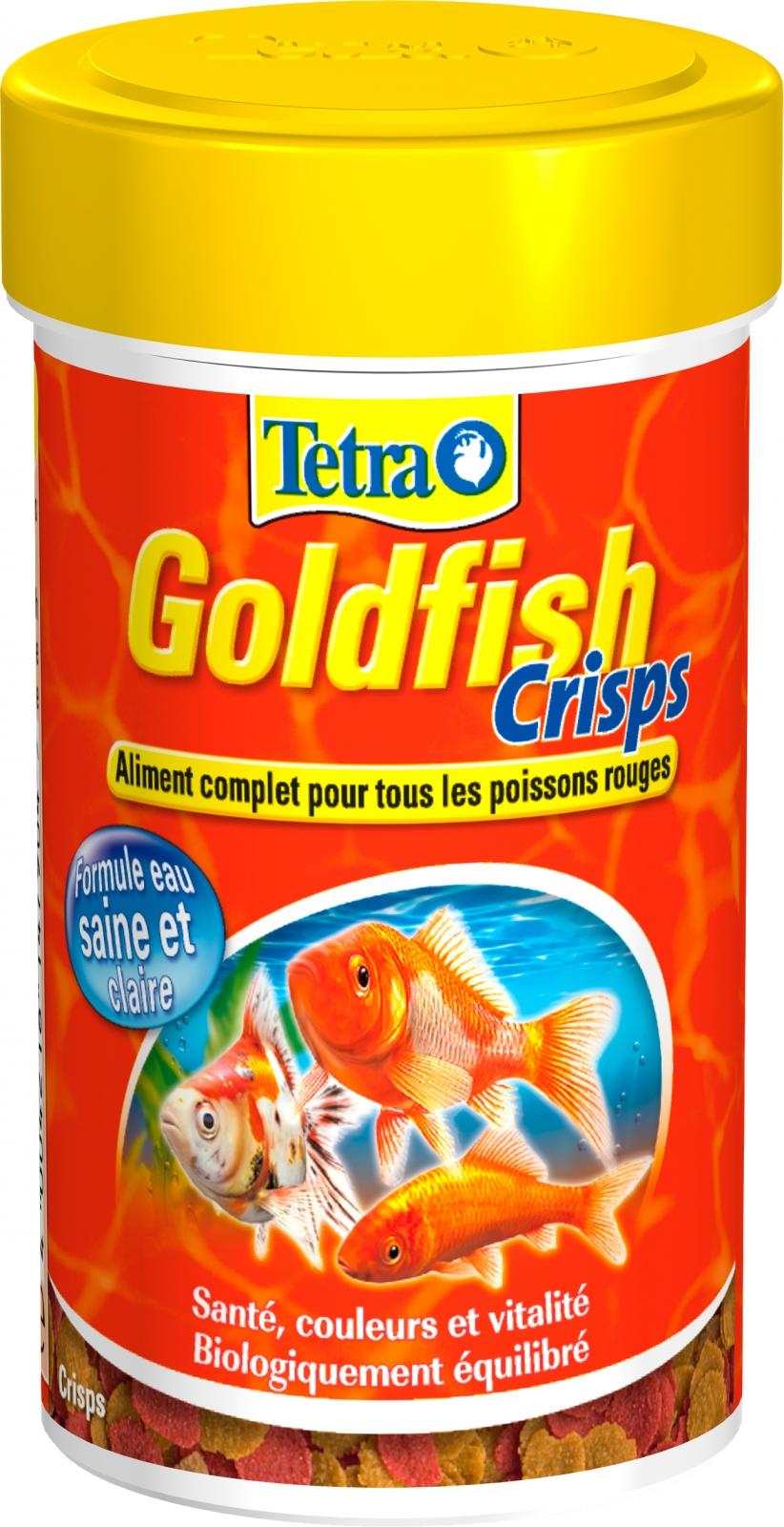 TETRA GoldFish Crisps 100 ml aliment complet en chips de grande qualité pour tous les poissons rouges et d\'eau froide