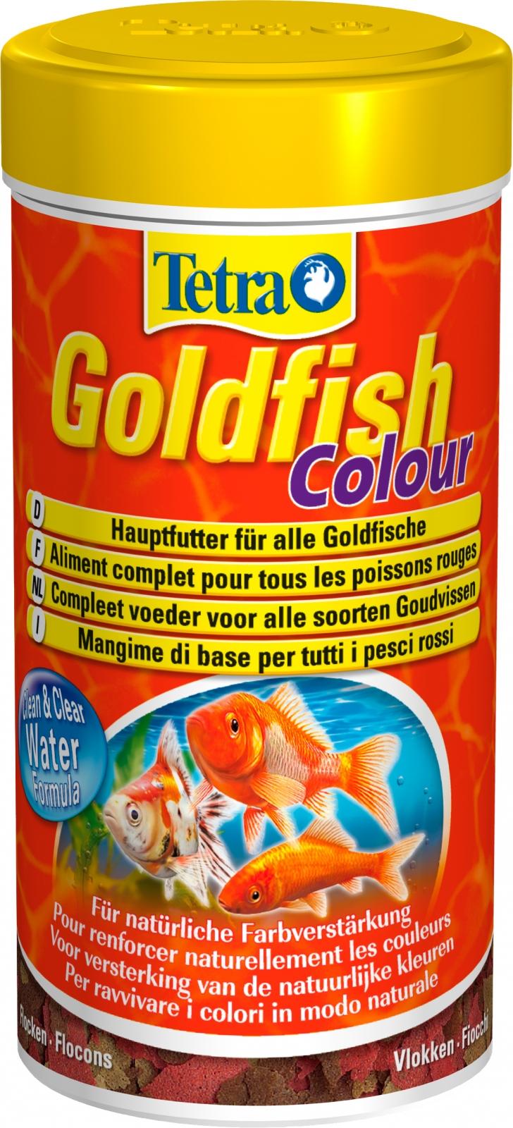 TETRA GoldFish Colour 250 ml aliment complet en flocons pour renforcer l\'éclat des couleurs des poissons rouges et autres poissons d\'eau froide