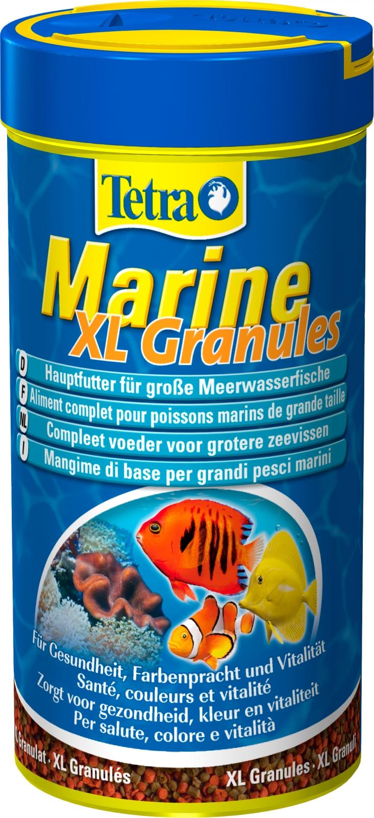 TETRA Marine Granules XL 250 ml aliment complet sous forme de gros granulés pour tous les poissons d\'eau de mer de grande taille