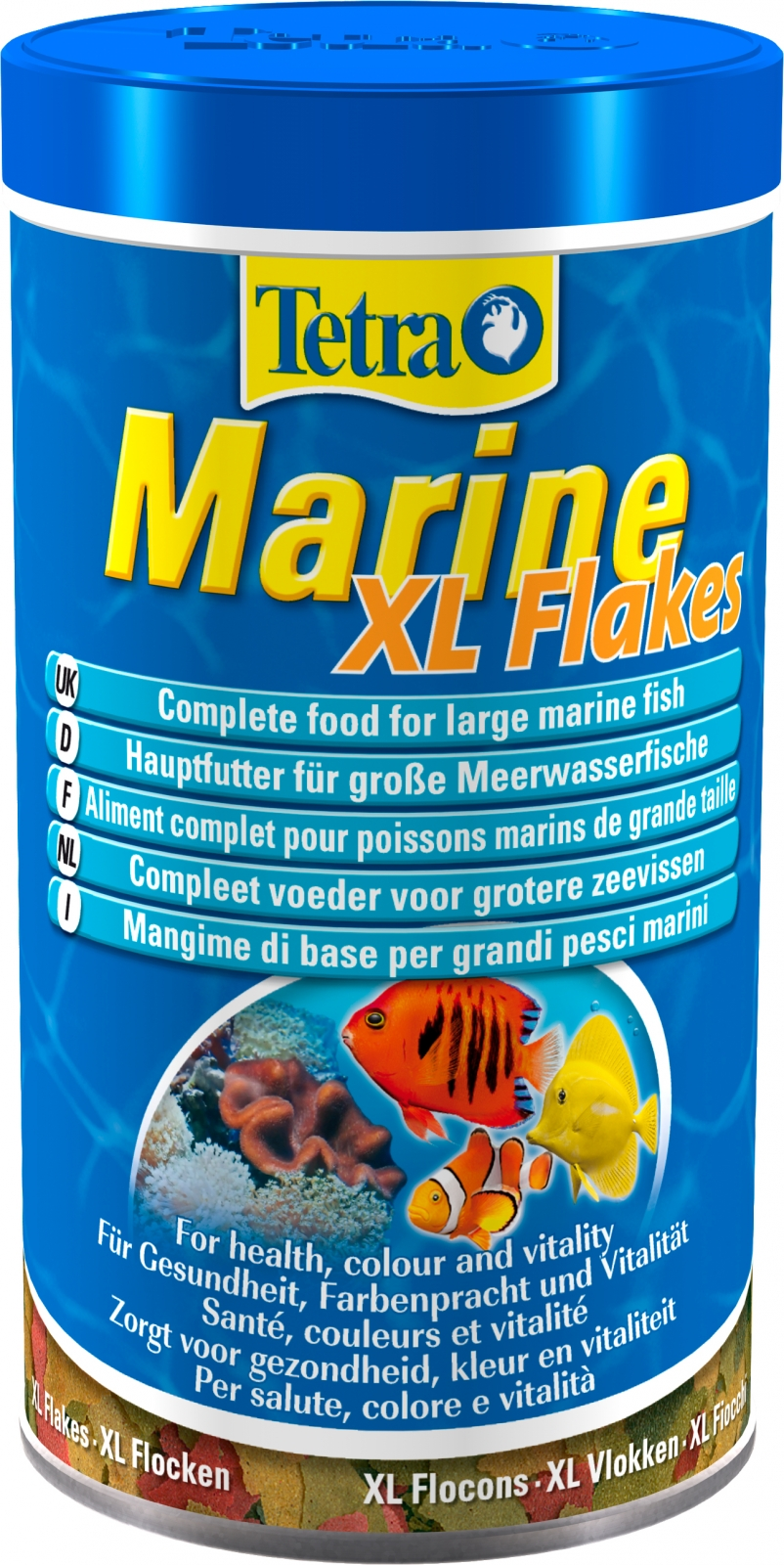 Tetra marine flakes xl 500 ml aliment complet sous forme for Flocon poisson