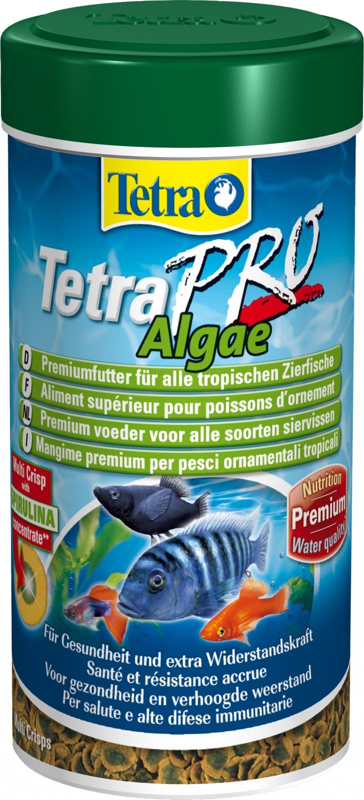 TETRA Pro Algae 250 ml aliment en chips de qualité supérieure à base d\'algues pour poissons d\'ornement herbivores