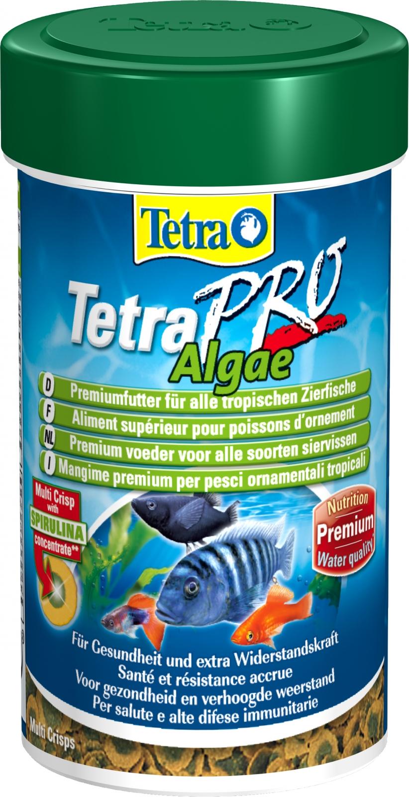 TETRA Pro Algae 100 ml aliment en chips de qualité supérieure à base d\'algues pour poissons d\'ornement herbivores