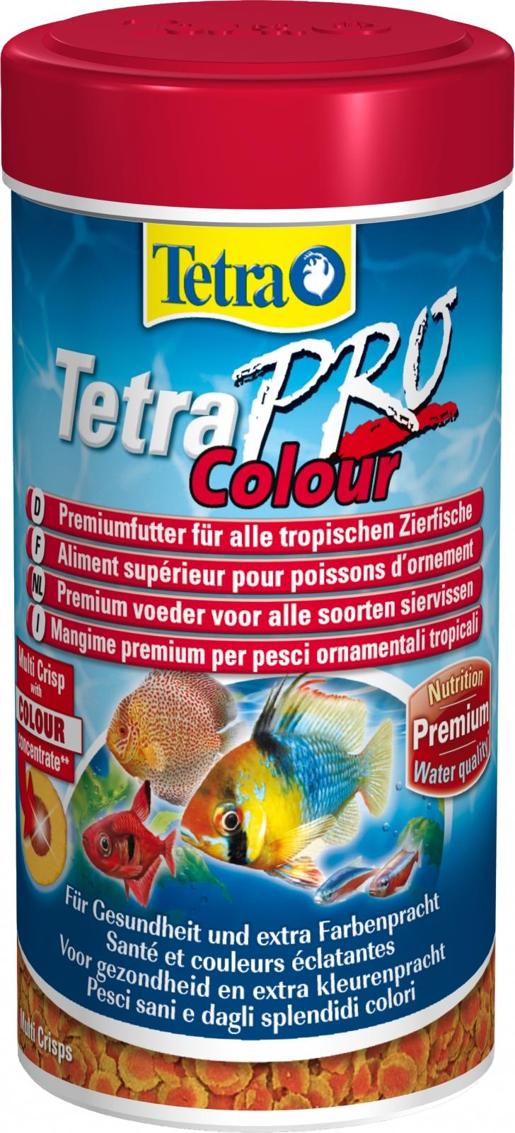 TETRA Pro Colour 250 ml aliment en chips de qualité supérieure réhaussant les couleurs des poissons d\'ornement