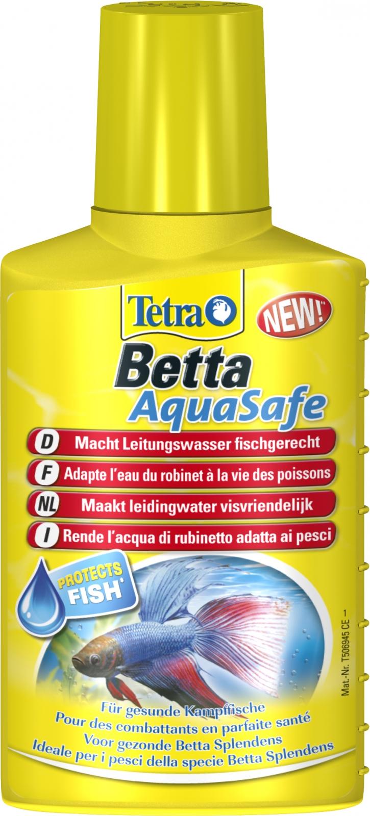 TETRA Betta AquaSafe 100 ml transforme instantanément l\'eau du robinet en une eau comme à l\'état naturel, adaptée aux besoins des poissons combattants
