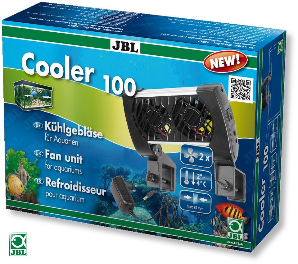 Ventilateur d\'aquarium JBL Cooler 100 abaisse la température de l\'eau jusqu\'à 4°C grace à ses 2 ventilateurs