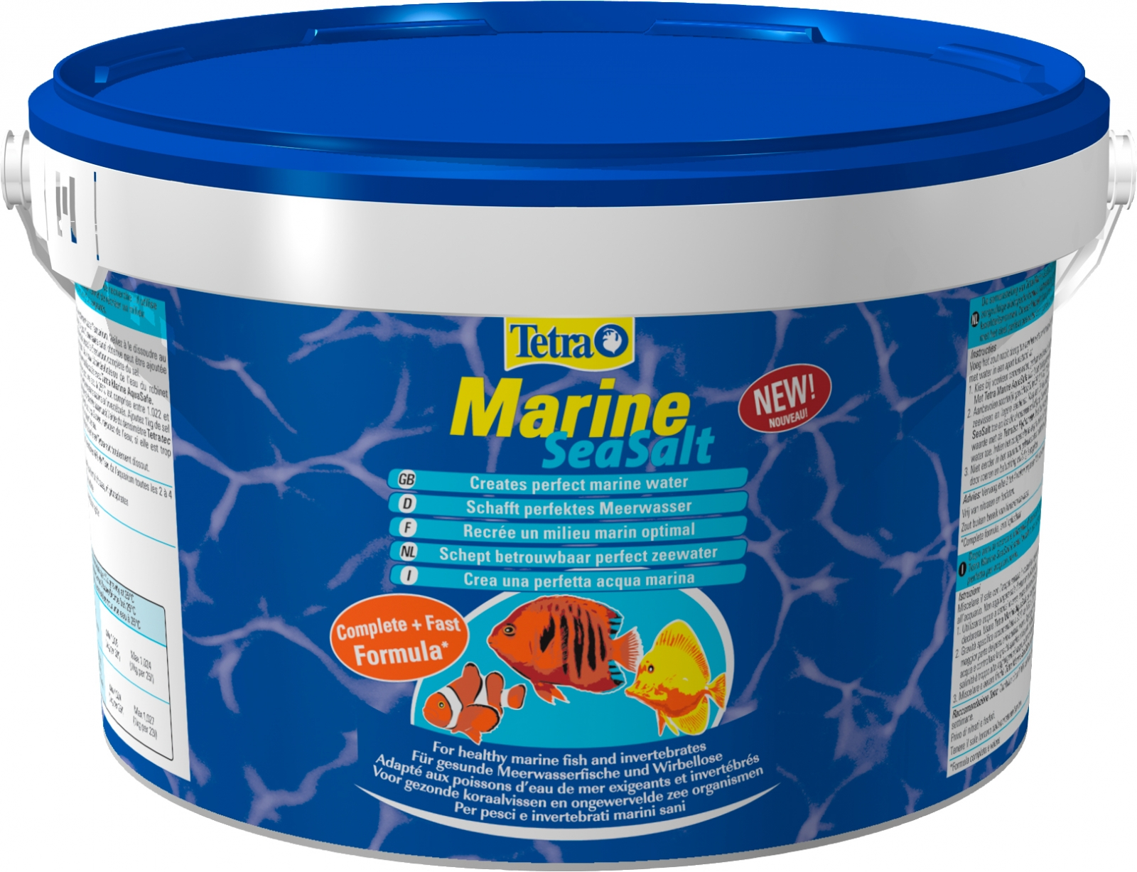 Sel pour aquarium marin TETRA Marine SeaSalt 8 kg riche en calcium