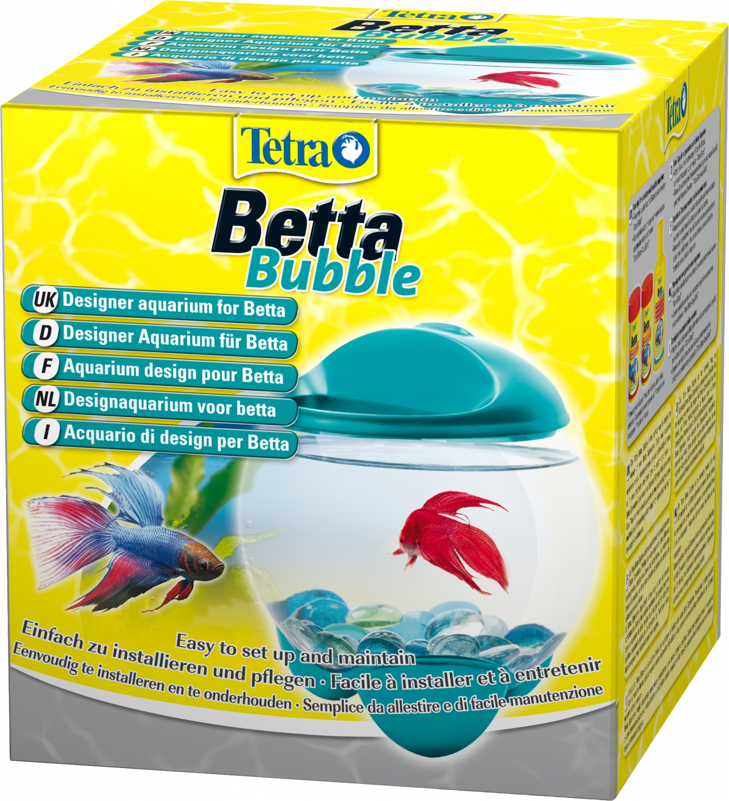 nano aquarium pour combattant tetra betta bubble turquoise. Black Bedroom Furniture Sets. Home Design Ideas